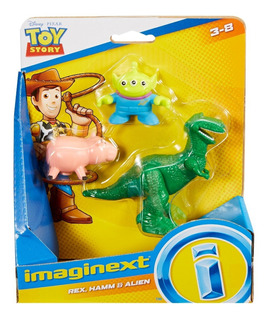 Disney Toy Story Imaginext Set Hamm Rex Aliens Nuevo!!