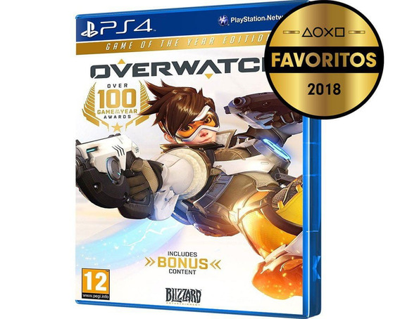 Ps4 Original Overwatch Game Of The Year Blu-ray Midia Fisica