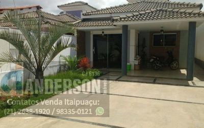 Casa Em Itaipuaçu Com 3qtos (1 Suíte), Piscina E Churrasqueira