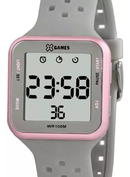 Relógio X-games Feminino Digital Quadrado Xlppd034 Bxgx