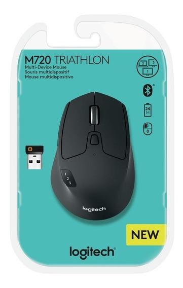 Mouse Logitech M720 Sem Fio Triathlon Flow Unifying Wireless