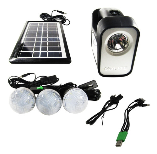Kit  Ampolletas Solar Emergencia Camping 220v 36horas Ml2965