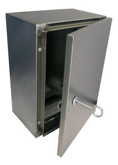 Caja Acero Inoxidable 50x40x25cm Cierre Chapa Ip-65 Nema 4x