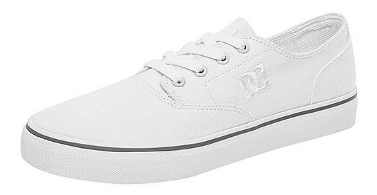 Tenis Ejercicio Dc Shoes Textil Blanco Niño Flash 99206ipk