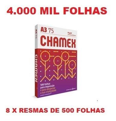 Papel Sulfite A4 Chamex Office 4000 Folhas Branco