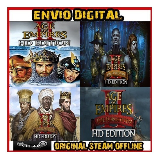 Age Of Empires 2 Hd + Expansão - Original Steam Offline