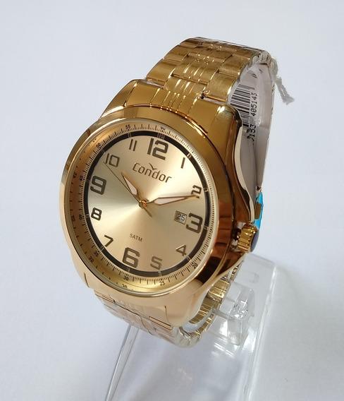 Relógio Dourado Masculino Condor Original Co2115vp/4d.