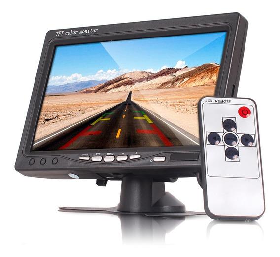 Tela Lcd 7 Monitor Veicular Automotivo Controle Rca Cam Ré