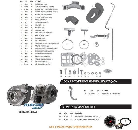 Kit Turbo Pick Up D10 D20 Veraneio Bonanza Maxion S4