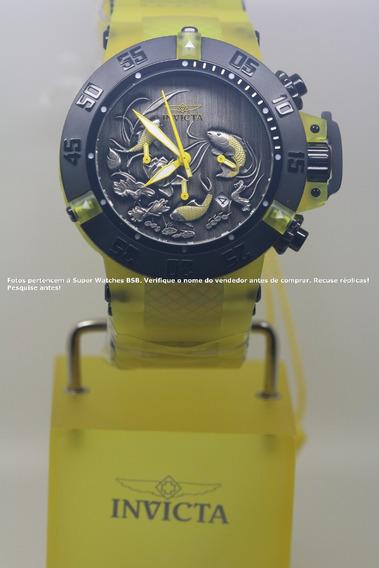 Invicta Subaqua Koi Fish Lançamento Transparente Amarelo