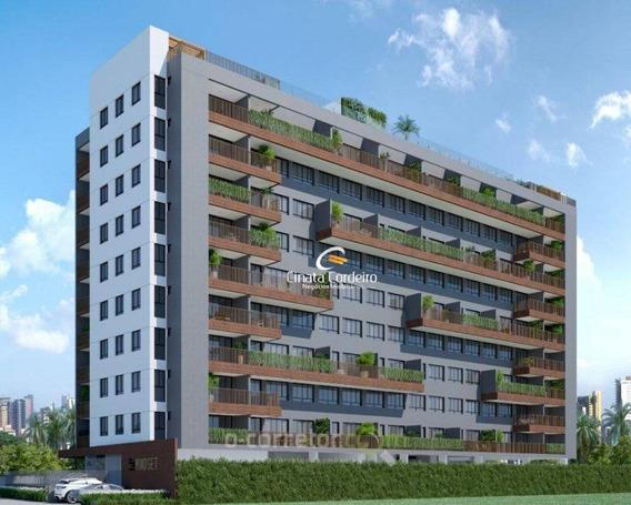Apartamento Com 1 Dormitório À Venda, 41 M² Por R$ 193.522 - Manaíra - João Pessoa/pb - Ap2441
