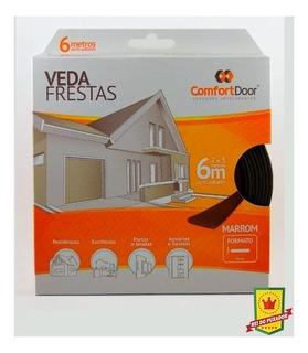 Veda Frestas Para Portas - I Marrom 6 Metros - Comfort Door