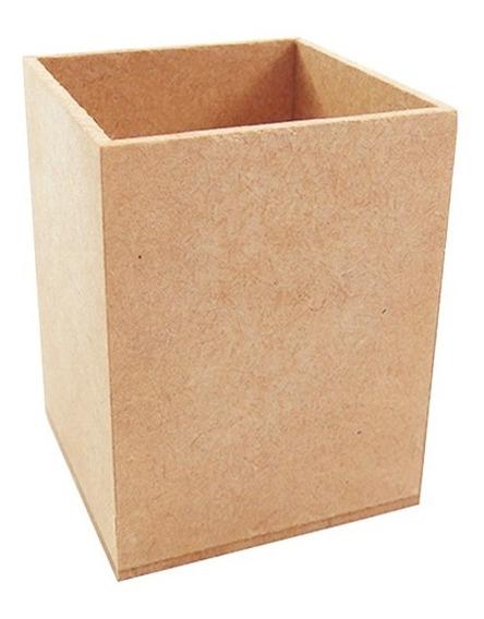 Porta Caneta E Lápis Em Mdf 6x6x8 Lembrancinha Kit 10 Pçs
