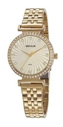 Relógio De Pulso Feminino Seculus Cód. 20738lpsvds2