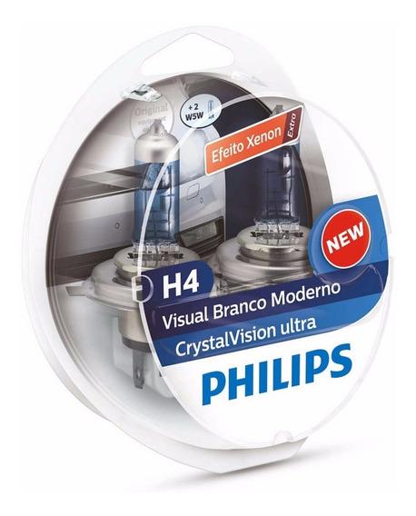 Lampada Original Philips Crystal Vision Ultra H4 4300k
