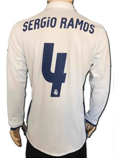 Jersey Real Madrid Manga Larga Liquidación Número Ramos