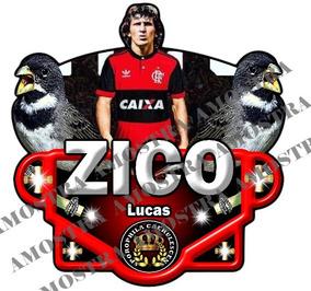 Placas De Gaiola Pra Pássaros Zico Time Flamengo
