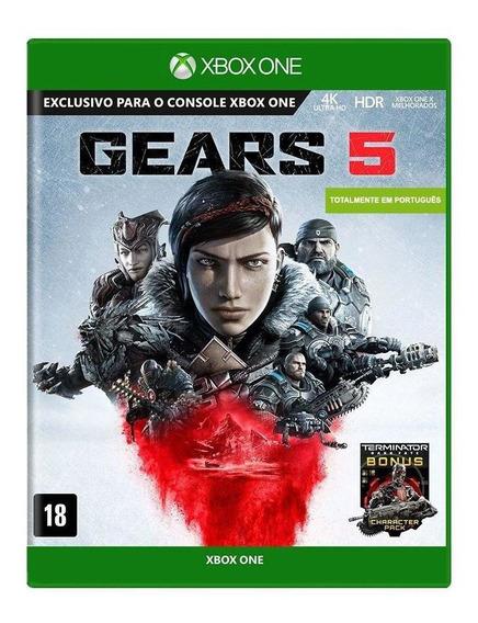 Gears 5 Xbox One Mídia Física Novo Lacrado