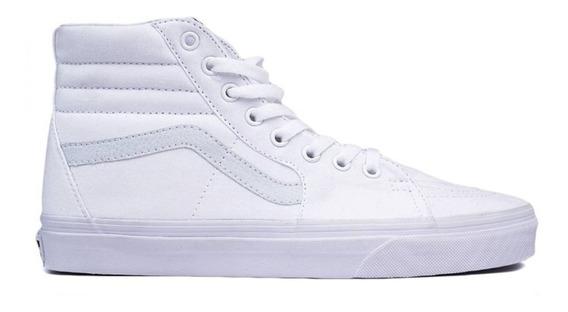 Tenis Vans Sk8 Bota Blanco Clasicos Originales Hombre