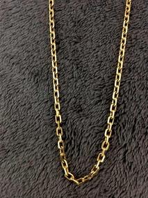 Corrente Em Ouro Cartier 18k Modelo Cadeado 19 Gramas 65cm