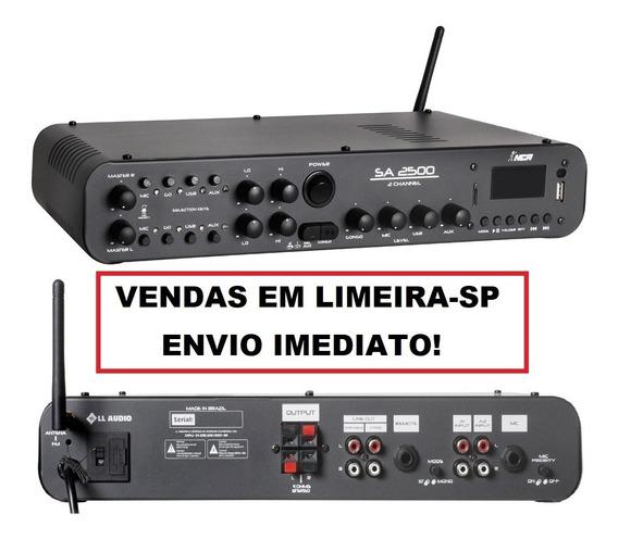Amplificador Som Ambiente Nca Sa2500 + 6 Caixas Sp400 C/ Nf