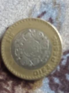 Moneda $ 10 Pesos 2007 Gráfila Invertida