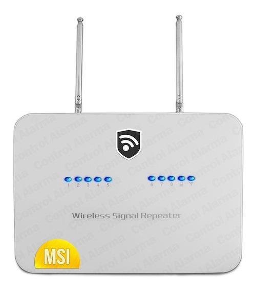Repetidora Señal 433mhz 2 Antenas Inalambrica Cobertura Sensores Alarma Batería Respaldo Seguridad Casa Negocio