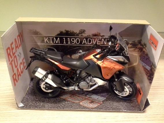 Miniatura Moto Ktm 1190 Adventure Laranja Escala 1:12 Rara