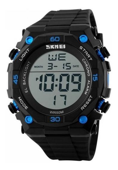 Relógio Digital Masculino Skmei Digital 1130 - Preto E Azul