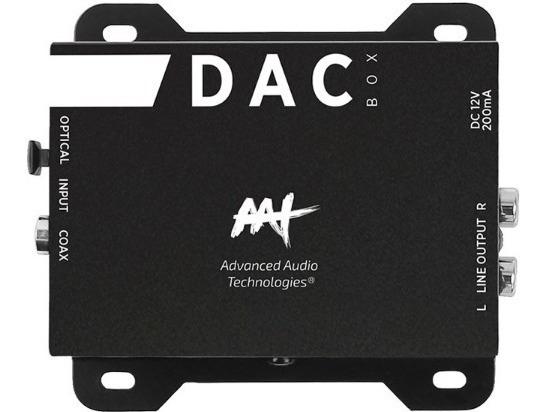 Conversor De Áudio Digital Analógico Aat Dac Box Óptico Rca