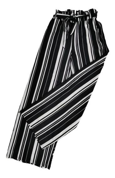 Calças Feminina Kit6 Soltinha Pantalona Listrada Maravilhosa Atacado Revenda
