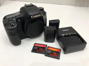 Câmera Canon Eos 7d + Carregador, 2 Baterias E Cartões