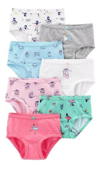 Carters Panties Calzones Bikini Niña Set De 7 Pzas