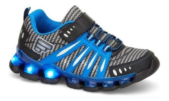 Tenis Niño Sneaker Con Luces En La Suela Comodos