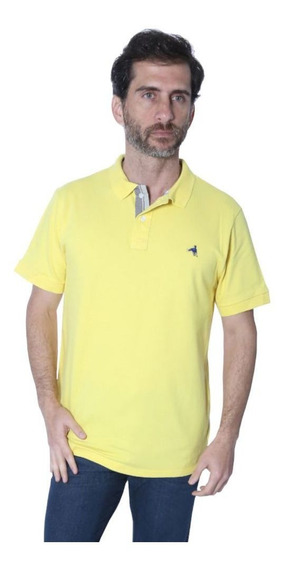 Camisa Polo Hipica Polo Club Player Classic Elastano Amarelo