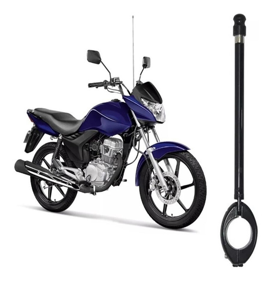 Antena Aparador Corta Linha Pipa Moto Guidão Inox
