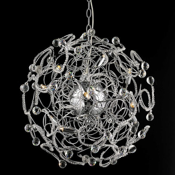Pendente Medusa 60cm Isadora Design Cromado Cf