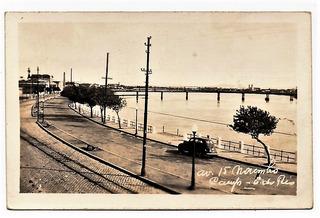 Cartao Postal Avenida 15 De Novembro - Campos - Rj - Anos 50