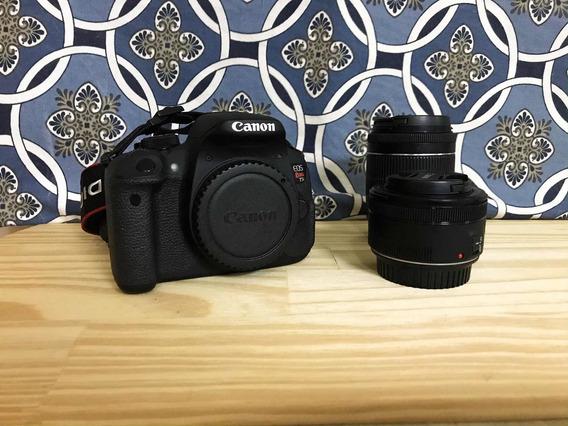 Câmera Canon T5i + Duas Lentes + Acessórios