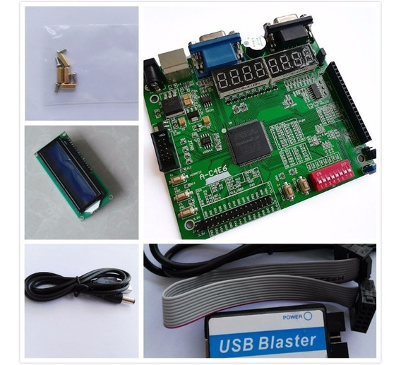 Kit Fpga Altera Cyclone Iv(4) + Usb Blaster + Lcd1602