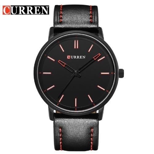 Relógio Masculino Curren Analógico 8233 Luxo Couro Brinde