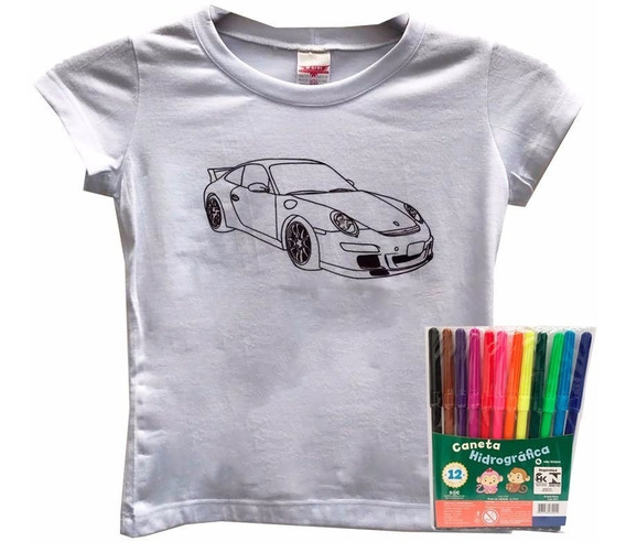 Blusas Para Colorir Infantil Carro Dia Das Crianças Roupas