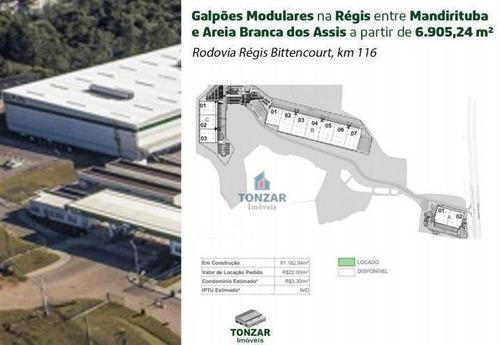 Galpão Modular Para Locação, Condomínio Fechado, Itapecerica Da Serra/sp. - Ga0661