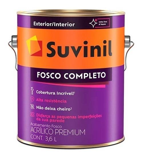 Tinta Parede Suvinil Lavável Fosco Preto 3,6 Lt