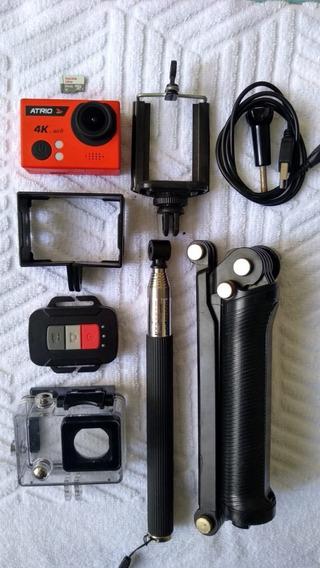 Câmera Atrio 4k + Bastão 3way + 64gb Ultra. Gopro