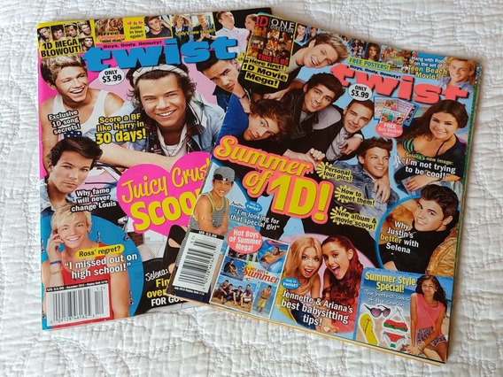 2 Revistas Gringas Twist - One Direction. Com Vários Posters