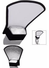 Difusor Rebatedor De Flash 2 Lados Universal Branco/prata