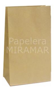 50 Bolsas 20x30x11cm S/manijas Papel Kraft Madera -en Once