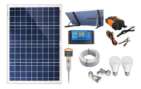 Planta Solar 650w/día Panel Para Tv Celular Foco Led Bateria Laptop