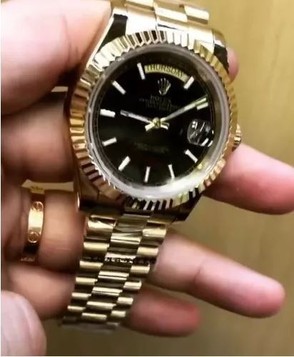 Relógio Date Just / Day Date Aço Inoxidável + Caixa Verde Cp